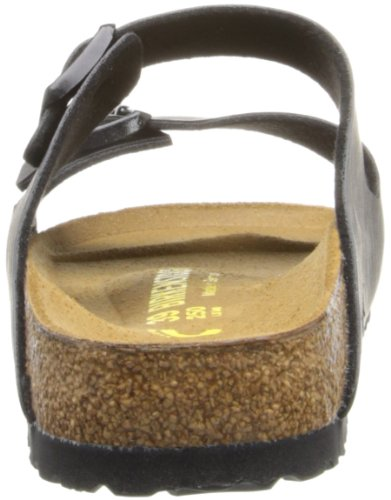 Birkenstock Arizona Donna Nero Pelle Scarpe Sandali 39 EU Nuovo