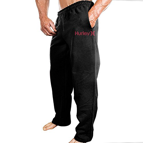 (MUMB Men's Sweatpants Hurley Black Size)