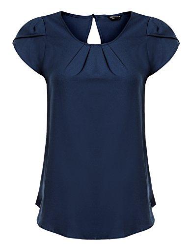 Hotouch Women Chiffon Petal Short Sleeve Draped...