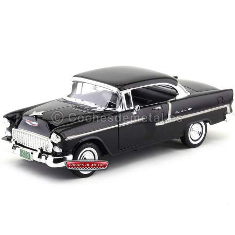 - Motormax 1955 Chevy Bel Air Coupe 1/18 Scale Diecast Model Car Green and White