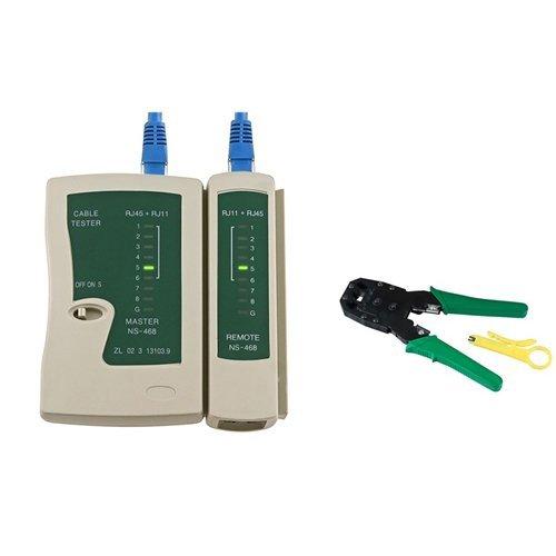 Sonline Testeur de cable reseau LAN RJ45 RJ11 RJ12 Cat5 + etau 003785