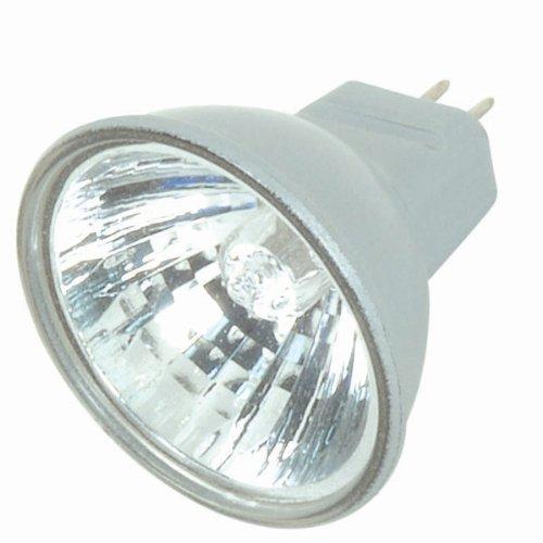 Satco S4170 20 Watt MR11 Halogen GZ4 Base 12 Volt Silver Back NFL 30 Beam Pattern No Harmful Ultraviolet Rays Light Bulb, With Lens (12v Mr11 Gz4 Base Lamp)