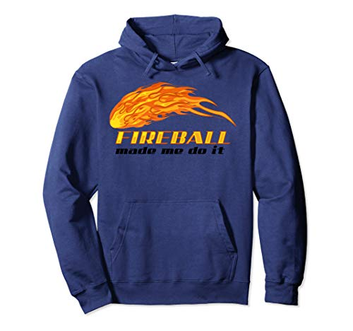 Fireball Made Me Do It Hoodie   Cool Bartender On Fire Gift ()