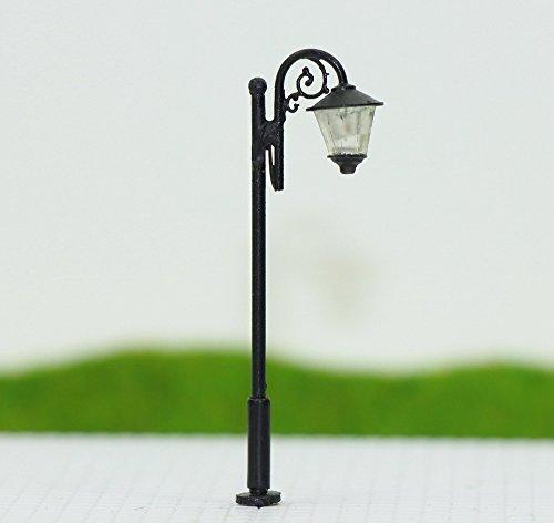Evemodel LYM36 10pcs Model Railroad Train Lamp Post Street Lights TT N Scale LEDs NEW