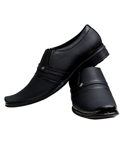 b646f0fc3da3 Shoe Rock Vision(SRV) Mens Black Synthetic Leather Formal Shoes Men  Buy  Online at Low Prices in India - Amazon.in