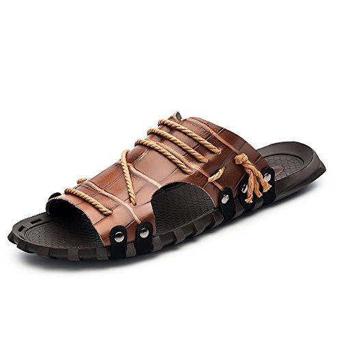 niño sandalia color Suave Tamaño Caqui Vintage Rojo Playa Correa Con Tobillo Abierto 45 Antideslizante Zjm Hombre Zapatos Confortable Zapatillas Diseño De 0SFfFpBq
