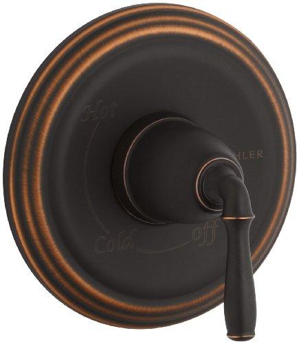 Kohler K-T397-4-2BZ Devonshire Rite-Temp Pressure Balancing Valve Trim, Oil Rubbed Bronze (Rite Temp Trim Tub)
