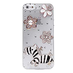 Grassland Zebra Jewelry Covered Back Case for iPhone 5/5S