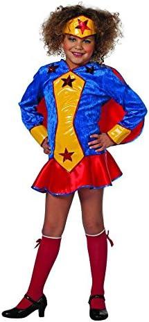Stekarneval - Disfraz de superhéroe para niña, talla 128 cm ...
