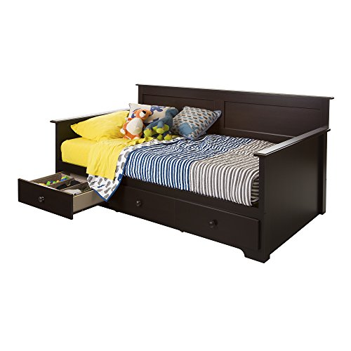 South Shore 10079 Daybed with 3 Storage Drawers, Chocolate, 39""