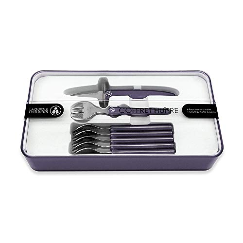 Laguiole Evolution 7-Piece Acidule Seafood Tool Set, Black by LAGUIOLE EVOLUTION (Image #1)