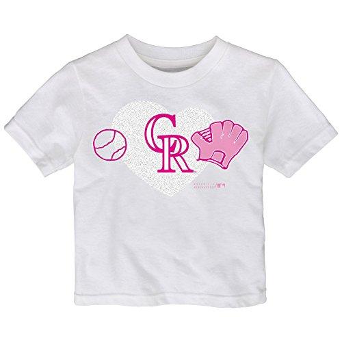MLB  Colorado  Rockies Toddler Girls Love Baseball Tee-2T