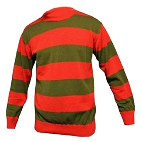 GirlzWalk Kids Unisex Winter Red Green Stripe Knitted Jumper 7-13 -