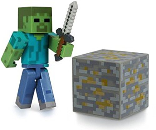 """Overworld Zombie ~2.75"""" Minecraft Mini Fully Articulated Action Figure Pack"""