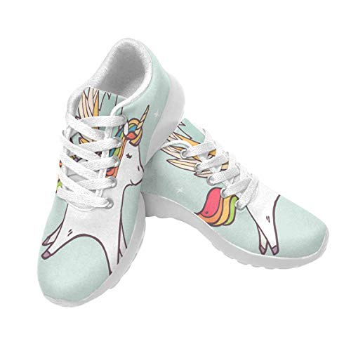 INTERESTPRINT Womens Running Shoes Lightweight Sneakers Athletic Tennis Sport Shoes Cute Pegasus