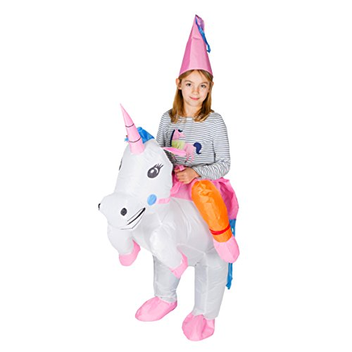 Bodysocks Kids Inflatable Unicorn Fancy Dress Costume -