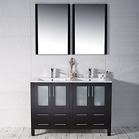 BLOSSOM 001 48 02 D Sydney 48 Double Vanity Set With Mirrors Espresso