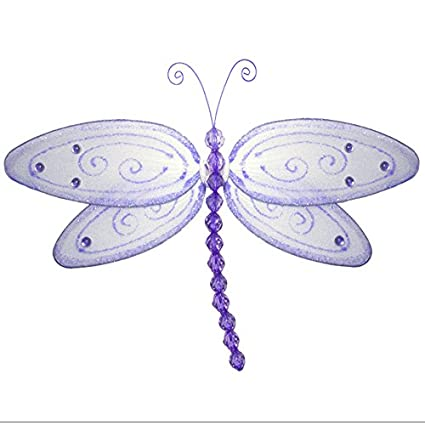 Beau Hanging Dragonfly Large 13u0026quot; Purple Lavender Glitter Nylon Dragonflies  Mesh Decorations Decorate Baby Nursery Bedroom