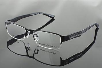 b0bf5582cf Image Unavailable. Image not available for. Color  Porsche Design P8231  Black Titanium Half Rim Glasses Frame