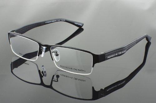49a0c265f00 Amazon.com  Porsche Design P8231 Black Titanium Half Rim Glasses Frame   Health   Personal Care
