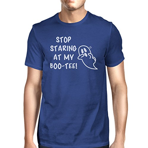 de Camiseta Stop At para Staring Ghost One hombre 365 My Printing Boo manga Size tee Blue corta w5CxPEqz