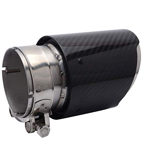 FidgetGear Carbon Fiber Exhaust Tips Pipes Muffler Tail Tip 7.6cm 3' Inlet 10cm 4' Outlet 4' Tip Carbon Fiber