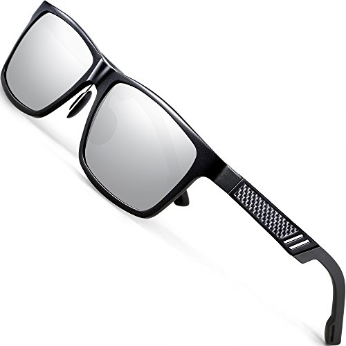 ATTCL Men's Hot Retro Al-Mg Metal Frame Driving Polarized Sunglasses For Men Women ()