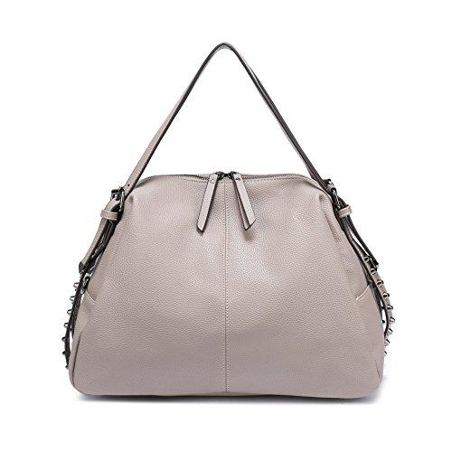 Pink Handbag Light Hobo Ways Shoulder Top DDDH With Purses Handle Tote Leather Gray 3 Women's Straps 962 Removable Handbag PU qxwaTw17