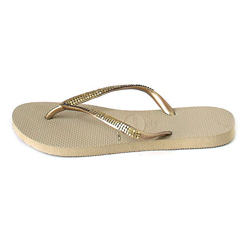 Havaianas Woman Slim Metal Sandal Black Sand Grey jr48kj0m