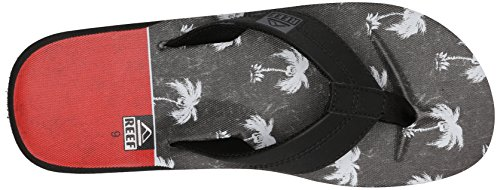 Sandal Prints HT Black Men's Red Palm Reef B0qxt