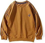 ROWEY Toddler Boys Sweatshirts Dinosaur  Long Sleeve Kids Sport Outdoor Crewneck Pullover Tops Tees 100% Cotto