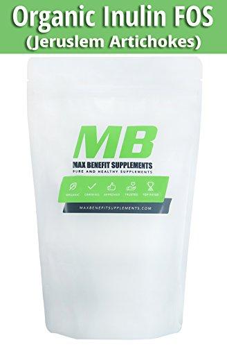 MaxbenefitSupplements 100% Inulin FOS Powder (Jerusalem Artichoke) - 250g - 96 Servings