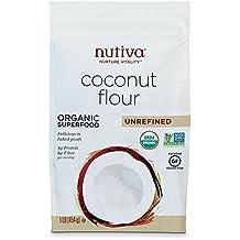 Nutiva USDA Certified Organic, non-GMO, Gluten-free, Unrefined Coconut Flour, 1-Pound