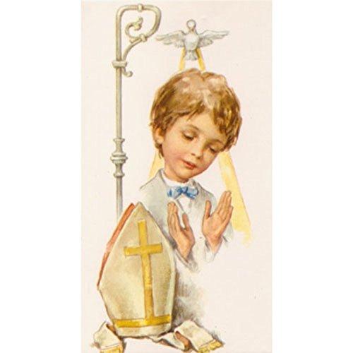 Boys Confirmation Holy Spirit Catholic Holy Card, 4 5/16 Inch, Pack of 100