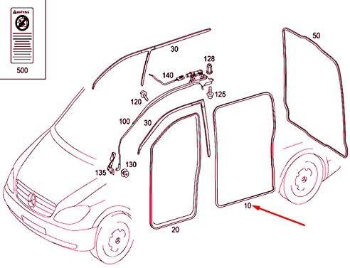 MB VITO W639 Junta para puerta corredera derecha A6397330798: Amazon.es: Coche y moto