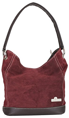Red Leather Slouch Bag - 5