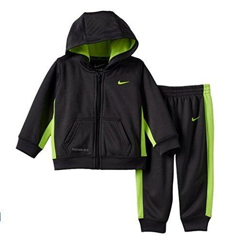 Nike Baby Boys KO Therma-FIT Hoodie & Pants Set, Size: 18 MONTHS (Grey)