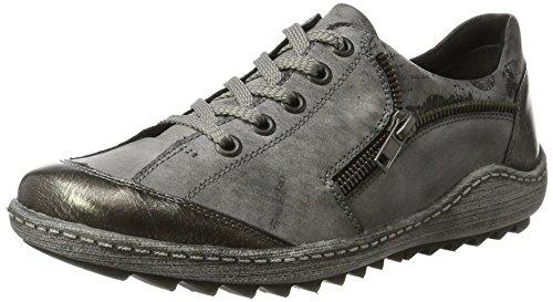 Black 01 UK 01 Altsilber 4 Grey Top Women's R1401 Schwarz Remonte Negro Altsilber Asphalt Low 01 Schwarz Sneakers Asphalt 6qwgTF