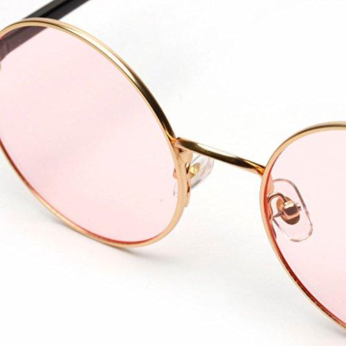 Rétro De Style Lunette en En Soleil Rose Décontracté Acrylique Ronde Sharplace Unisexe Mode a8n554Zq