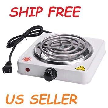 Quemador eléctrico portátil para cocina, cocina, estufa, dormitorio RV, encimera de viaje, quemador de carbón de cachimba: Amazon.es: Hogar