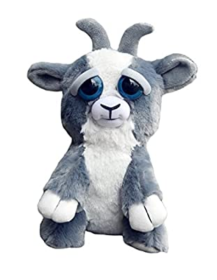 William Mark Feisty Pets Junkyard Jeff Adorable Plush Stuffed Goat that Turns Feisty with a Squeeze by William Mark