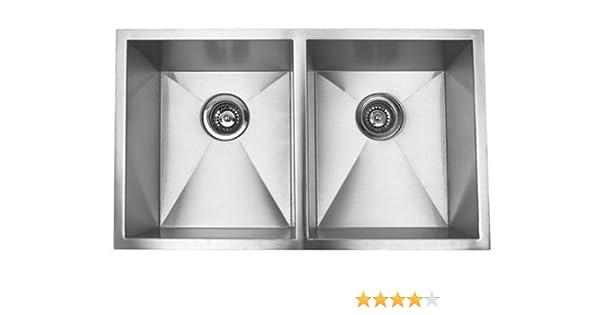 Charmant 37 Inch Stainless Steel Undermount 50/50 Double Bowl Kitchen Sink Zero  Radius Design     Amazon.com