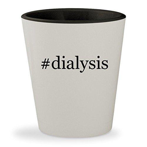 #dialysis - Hashtag White Outer & Black Inner Ceramic 1.5oz Shot Glass
