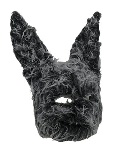 Zeckos,Hairy Scary Furry Evil Bunny Rabbit Mask,Gray,One Size -