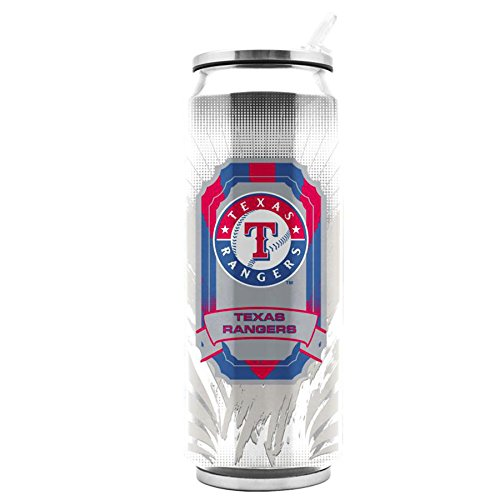 MLB Stainless Steel Thermo Can Travel Tumbler 16.9 Ounces (Texas Rangers)