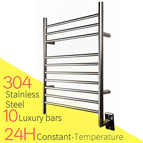 HEATGENE Hot Towel Warmer for Bath Hardwired Heated Drying Rack Brushed Polish