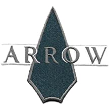 "J&C Family Owned DC Comics Green Arrow Logo 4.37"" Embroidered Sew/Iron-on Patch/Applique"
