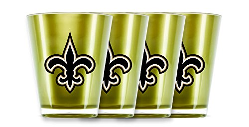 NFL New Orleans Saints Insulated Acrylic Shot Glass Set of 4
