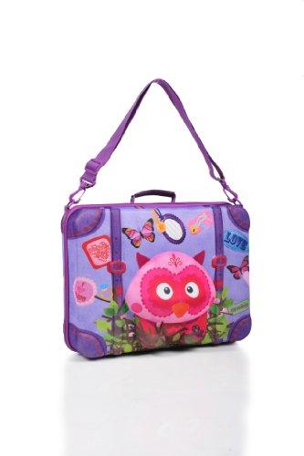 okiedog wildpack 80333 maleta para niños con motivo 3D DRAGÓN, rojo LECHUZA fucsia