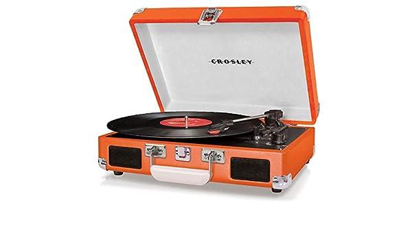 Crosley Cruiser Deluxe Turntable Orange: Amazon.es: Electrónica